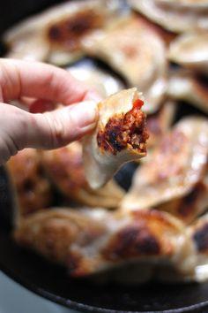 Italian Sausage, Pepper, and Onion Dumplings