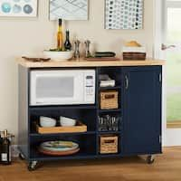 Simple Living Rolling Galvin Microwave Cart