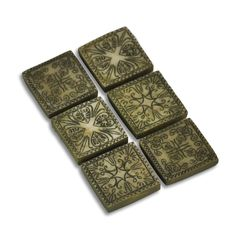 ANCIENT SQUARE STEPPING STONES SET 6, ASST. - Miniature Expressions