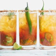 Fresh cherry tomatoes give this refreshing cocktail sweet flavor. /
