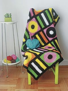 Ravelry: Licorice Allsorts Afghan pattern by Twinkie Chan Afghan Patterns, Crochet Patterns, Twinkie Chan, Yarn Crafts, Diy Crafts, Liquorice Allsorts, Yarn Bombing, Knitting For Beginners, Knitting Ideas