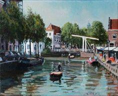 Stadsgezicht Alkmaar door Jaap Zomer, 2014.