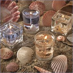 beach candles.