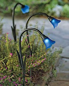 Solar Bluebells for your Alice in Wonderland garden at night.