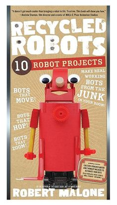 Recycled Robots Book Kit |Gift for Boy, Robot Book, Creative Book for Boy| Catching Fireflies