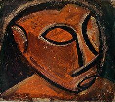 Head of a man - Pablo Picasso - Cubism, Naïve Art (Primitivism) African Period, 1908