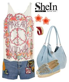 """""""She 28"""" by sarahguo ❤ liked on Polyvore featuring Topshop, René Caovilla, Dsquared2 and Tsumori Chisato"""