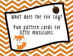 Your students LOVE this song - why not have a little fun with it?  These fabulous flash cards will get your students chanting and reading rhythm patterns in no time!
