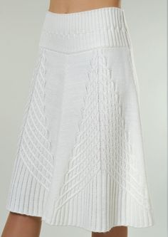 white knit skirt