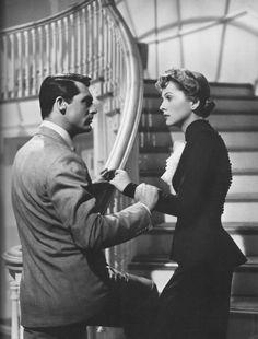 """Cary Grant & Joan Fontaine in """"Suspicion"""""""