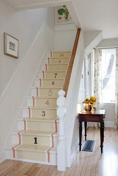 Loved The Numbered Stairs So Much,                                    That I Did it in My Home With Different Size and Style House Numbers