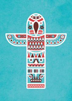Totem Pole Art Print by Ludivineem