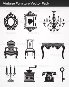 Vintage-furniture-vectors