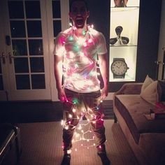 I sent this to my best friend....  What did your husband get himself into this time?- Me    Yeah well him and I were decorating the tree and things went bad haha- BFF    love that girl ♥