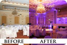 Wedding Lighting Spokane Before and After