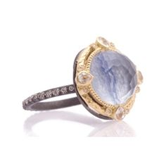 Reis-Nichols Jewelers : ARMENTA Midnight Kyanite & White Quartz Doublet Ring
