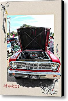 Ford Falcon Canvas Print / Canvas Art By Jeff Monk