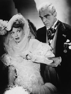 Boris Karloff and Lucille Ball, in Lured (1947)