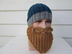 MEN Beard hat men's Hats Beard Beanie Wild Man by Ritaknitsall