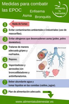 Medidas para combatir #EPOC #asma #bronquitis #enfisema #salud #bienestar