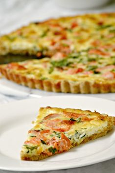 Use leftover salmon to create an entire meal with this Salmon Quiche Recipe!