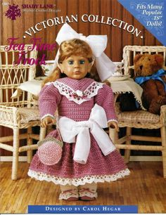 American Girl 18' Doll Crochet Clothing Pattern Downloads fits American Girl, Springfield, Syndee, etc.. Ag Doll Clothes, Crochet Doll Clothes, Crochet Dolls, American Girl Crochet, American Girl Diy, Making Hair Bows, Doll Costume, Girl Dolls, Doll Patterns