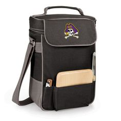 East Carolina University Pirates Duet Wine & Cheese Tote - Black - Embroidered