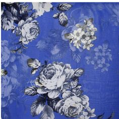 "Fabric Boutique - 774 N Pacific Hwy, Woodburn, Oregon - Royal blue high multi chiffon, <p>60"" wide chiffon</p>"