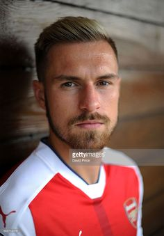 Aaron Ramsey of Arsenal during the Arsenal 1st team photocall at London Colney…