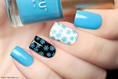 Новые свотчи Fabulous Nails, Perfect Nails, Gorgeous Nails, Pretty Nails, Nail Art Designs Videos, Nail Polish Designs, Nail Designs, Blue Nail Polish, Blue Nails