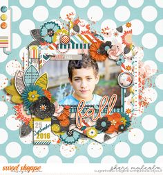 Digital scrapbook page by SeattleSheri using For the Record: Fall by Becca Bonneville & Digital Scrapbook Ingredients with Dream Big Little One template by Two Tiny Turtles