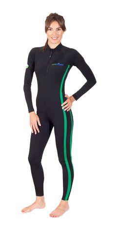 Women Full Body UV Protection Stinger Suit Dive Skin with Pocket
