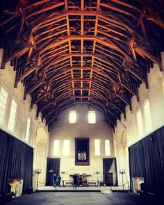 James IV's Great Hall in Stirling Castle was the largest non-religious space in Scotland when it was built in 1503. It was designed for state events (and as a dining room for staff the rest of the time.)