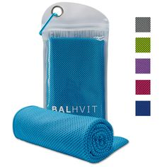 """Balhvit Cooling Towel, Cool Towel for Instant Cooling Relief, Chilling Neck Wrap, Ice Cold Scarf For Men & Women, 40x12"""", Microfiber Bandana - Evaporative Chilly Towel For Yoga Golf Travel Beach, Blue. HEAT AND HIGH TEMPERATURES ARE NOT AN ISSUE FOR YOU - Don't you find it hard to work, study or exercise due to the high temperature that makes you feel exhausted? Wouldn't you like to remain cool and comfortable throughout the day? Well, you can do it! All you need is this top notch..."""