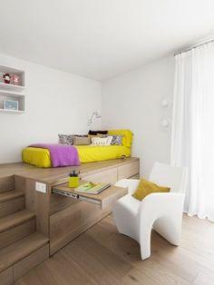 Super Design Interior Home Small Spaces Furniture Ideas Home Bedroom, Kids Bedroom, Bedroom Decor, Bedroom Ideas, Kids Rooms, Bedroom Workspace, Bedroom Small, Girl Bedrooms, Modern Bedroom