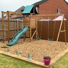 Fully pressure treated wooden climbing frames for 3 - 14 years. Wooden Climbing Frame, Climbing Frames, Buried Treasure, Garden Buildings, Heart For Kids, Play Houses, Woodland, Cabin, Cabins