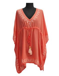 Wholesale Resort Wear Embroidered Poncho With Tassels Fushia - http://divinedivawholesale.com/shop/kaftan-caftans/wholesale-resort-wear-embroidered-poncho-with-tassels-fushia/