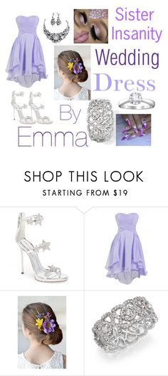 """""""My dress for a wedding"""" by galaxykittengirl ❤ liked on Polyvore featuring Giuseppe Zanotti and De Beers"""