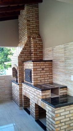 """Visit our site for even more info on """"built in grill patio"""". It is actually an outstanding area to find out more. Outdoor Kitchen Grill, Outdoor Oven, Outdoor Kitchen Design, Outdoor Kitchens, Pavillion, Brick Bbq, Built In Grill, Grill Design, Backyard Patio"""