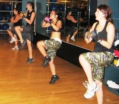 Flashback to Pottruck's introduction to BodyCombat in Studio 409!