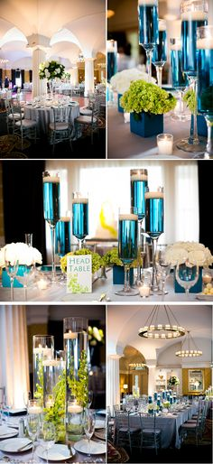 Modern Green and Blue Summer Hotel Wedding in DC | WeddingWire: The Blog