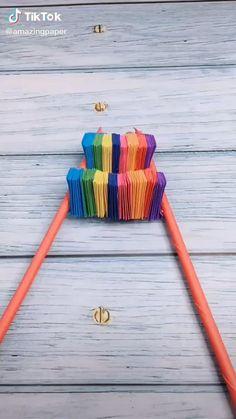 Diy Crafts For Girls, Diy Crafts Hacks, Diy Home Crafts, Fun Crafts, Diy Projects, Paper Crafts Origami, Paper Crafts For Kids, Cardboard Crafts, Origami Toys