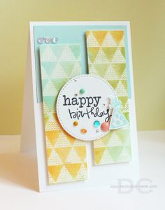 Card by Debbie Carriere using Treasured Words from Verve.  #vervestamps