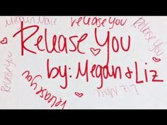 """Here's the lyric video for our new single """"Release You""""! Thank you SO MUCH for all of your help in making this! All of the graphics we got were great! :D :D #meganandliz #releaseyou"""