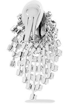 Kenneth Jay Lane - Silver-tone Crystal Earrings - One size