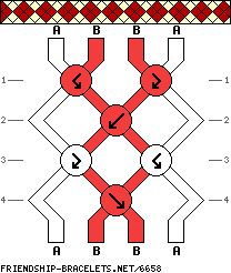 how to make bracelt with four strings