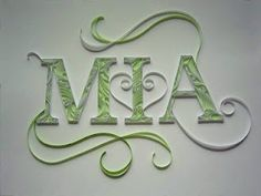 1000+ images about Quilled Monograms & Letters on ...