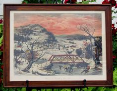 Winter In The Catskills Lithograph Print Framed Picture by BUYSEL