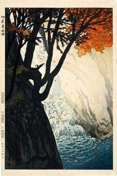 Vattenfall (Waterfall), by Shiro Kasamatsu (1898-1991)