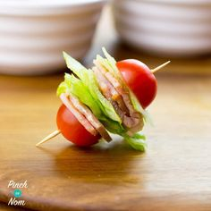 These Syn Free BLT Bites are a perfect Slimming World friendly snack when you just fancy something to nibble on, and they couldn& be easier to make! Clean Eating Recipes, Healthy Eating, Healthy Recipes, Healthy Steak, Healthy Options, Yummy Recipes, Free Recipes, Recipies, Syn Free Snacks